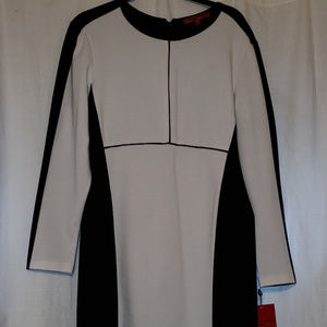 *NWT*  Narciso Rodriguez Black/White Sheath Dress